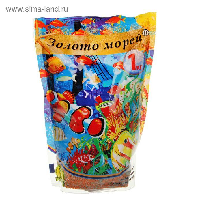 """Песок цветной """"Золото Морей"""" оранжево-салатово-сиреневый, 0,5-1мм, 1кг"""