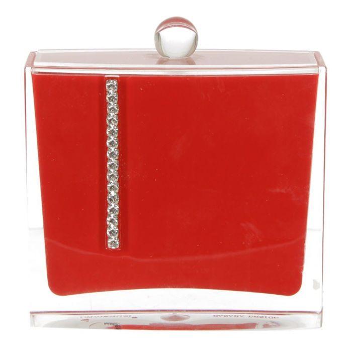 Контейнер для ватных палочек Roma, цвет красный