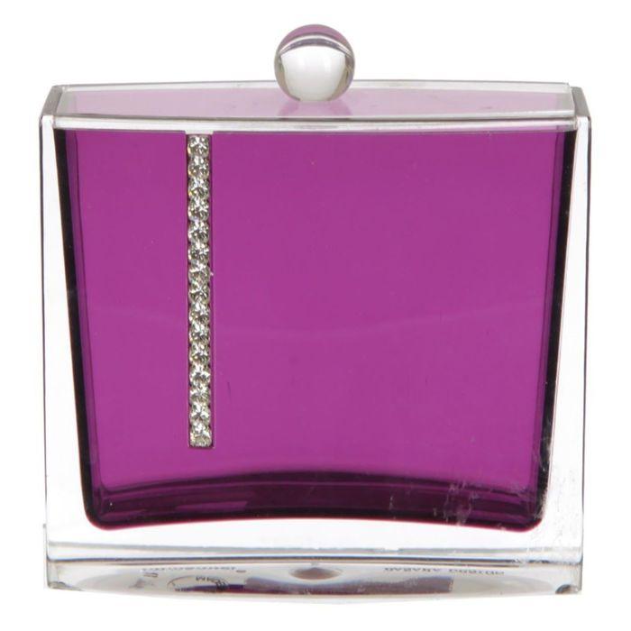 Контейнер для ватных палочек Roma, цвет фиолетовый