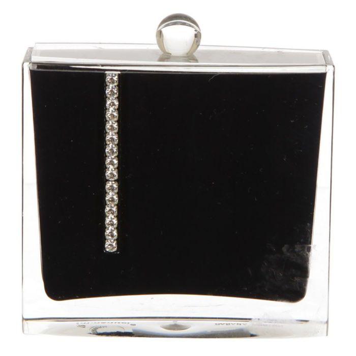 Контейнер для ватных палочек Roma, цвет чёрный