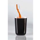 Стакан для зубной пасты Roza Melamine, цвет бело-черный