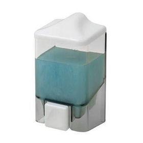 Дозатор для мыла 500 мл, цвет прозрачный-белый