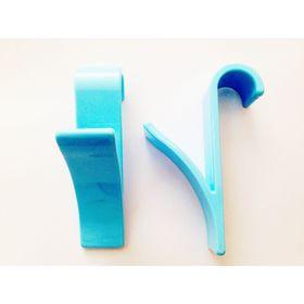Набор крючков для полотенцесушителя 2 шт, цвет голубой