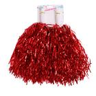 Carnival POM-poms, 2 piece set, red