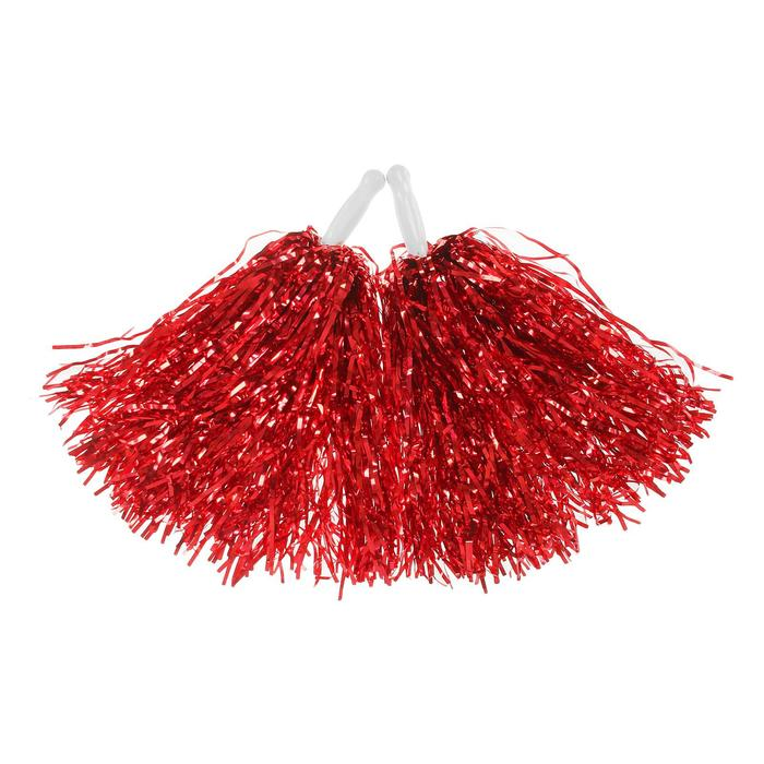 Карнавальные помпоны, набор 2 шт., цвет красный