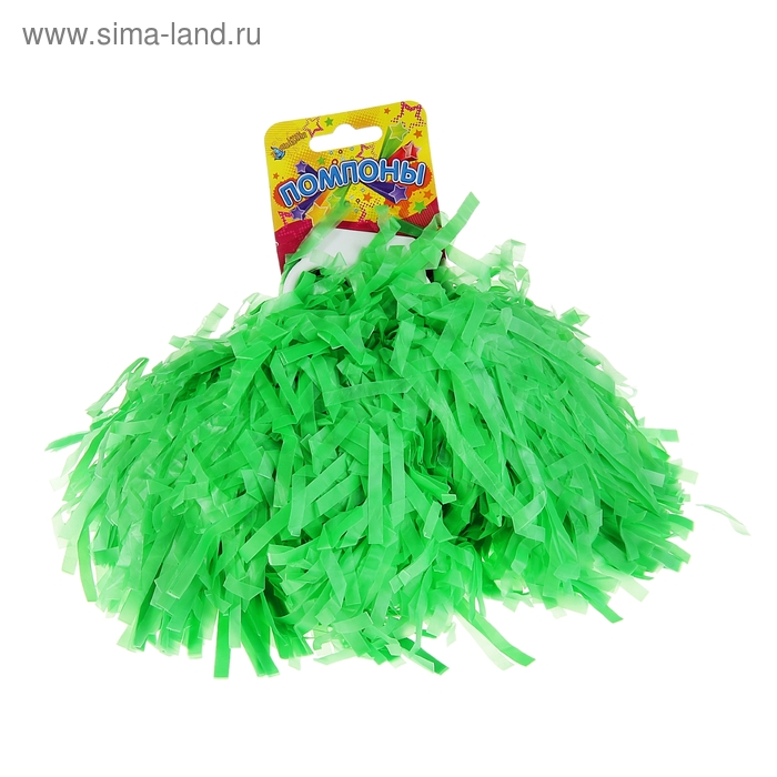 Карнавальный помпон, одевается на пальцы, цвет зелёный
