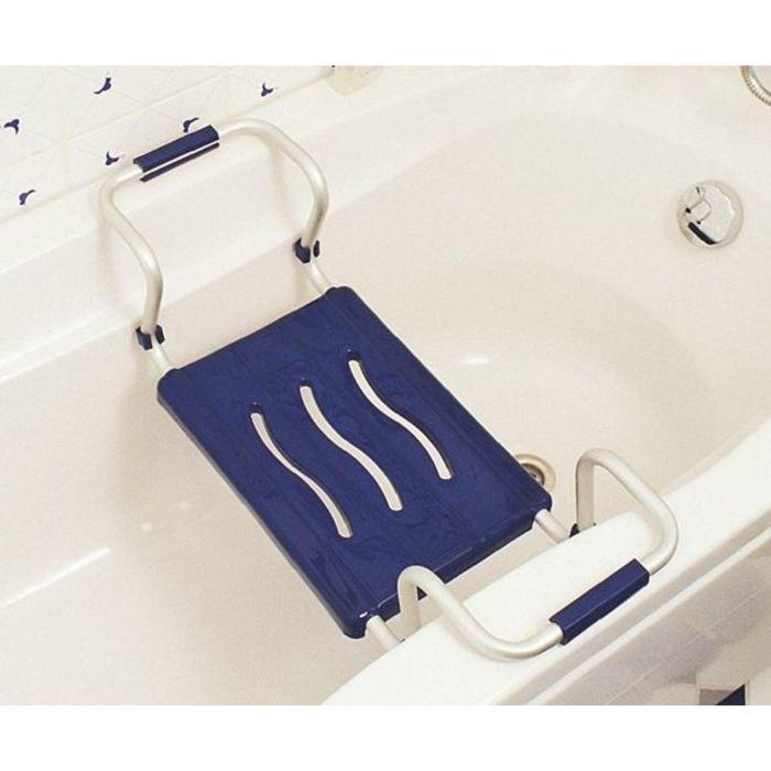 Сиденье для ванной тёмно-синее, алюминиевый каркас, нагрузка до 150 кг