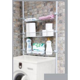 Система хранения для ванной с 3-мя регулируемым полками на 2-х трубках