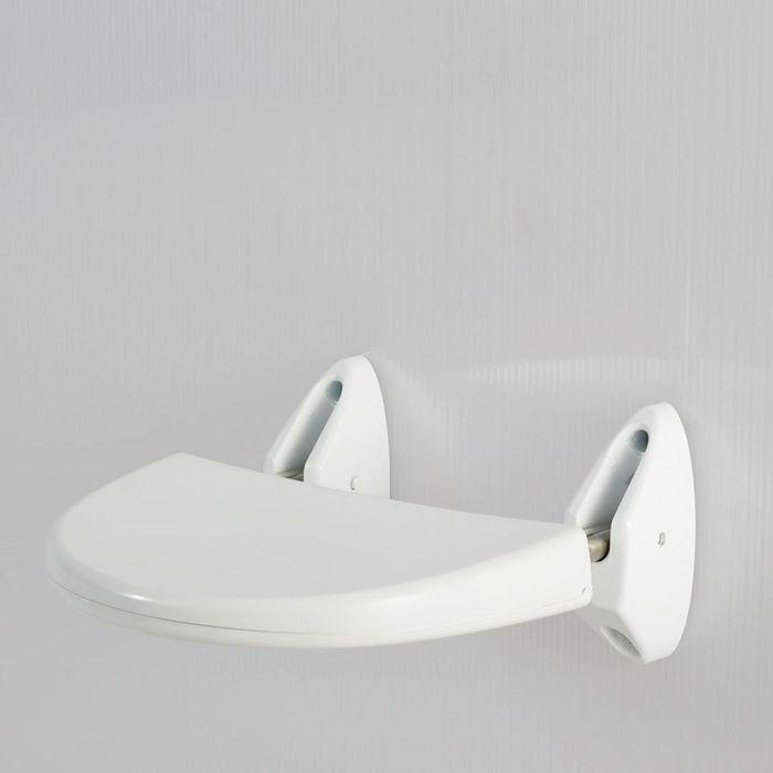 Сиденье настенное белое, нагрузка до 120 кг