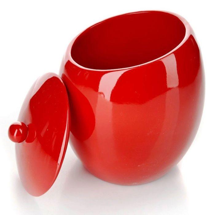 Контейнер для ватных палочек Nora, цвет красный