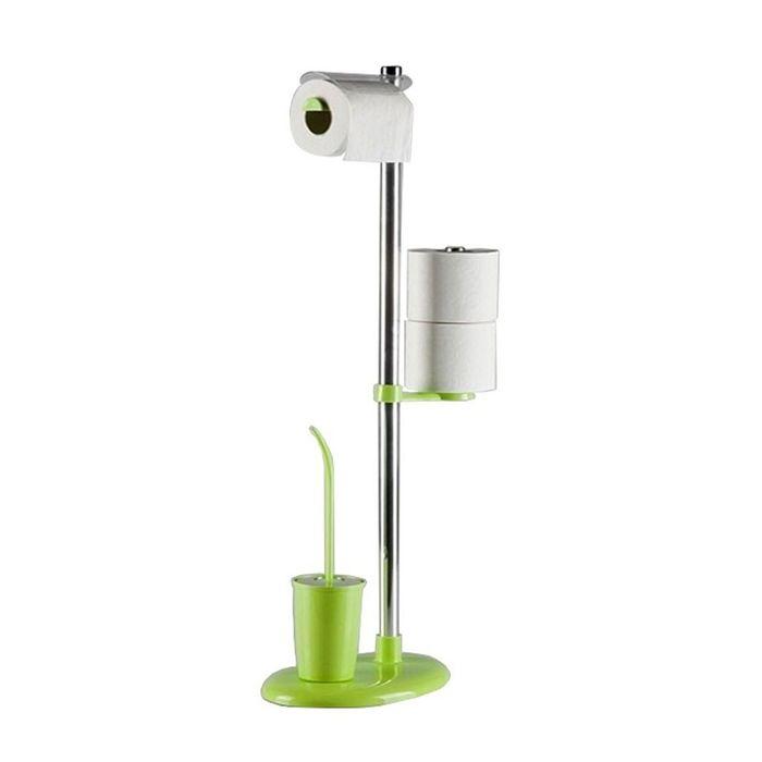 Стойка с ершом и держателем для туалетной бумаги Alba, цвет зелёный