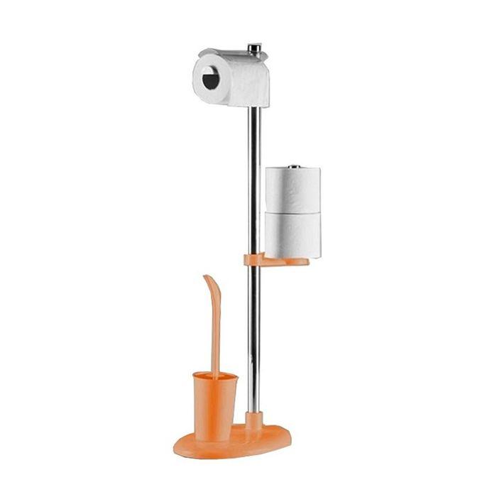 Стойка с ершом и держателем для туалетной бумаги Alba, цвет оранжевый