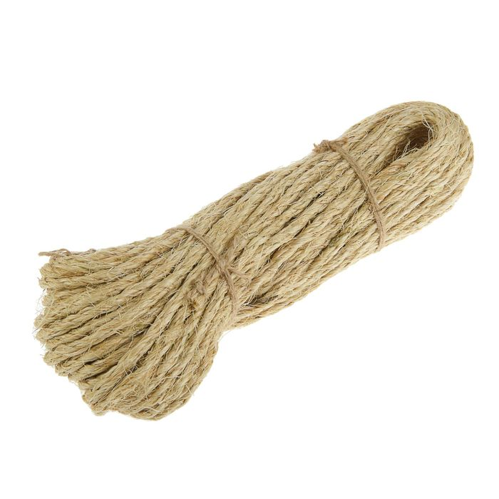 Верёвка сизалевая кручёная  4 мм (25 м)
