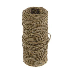 Верёвка упаковочная пеньковая, кручёная 1 мм (50 м)