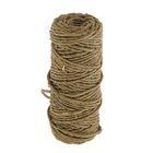 Веревка упаковочная пеньковая крученая 2,0 мм (30 м)
