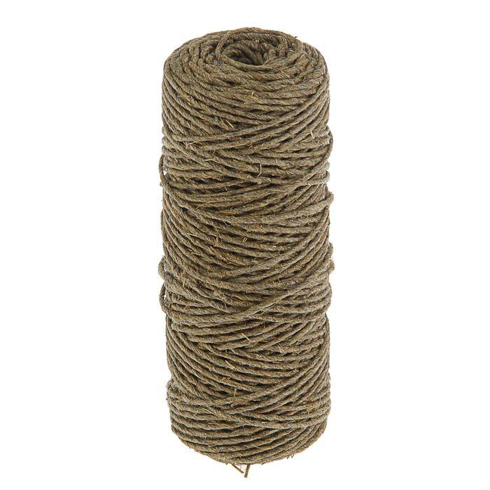 Верёвка упаковочная пеньковая, кручёная 2,5 мм (100 м)