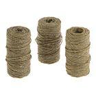 Набор верёвок упаковочных пеньковых, кручёных 1 мм (3×50 м)