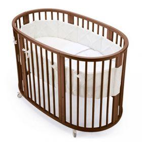 Кроватка-трансформер 6 в 1 MerryHappy круглая/овальная, матовая, цвет венге