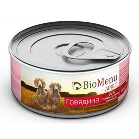 Консервы BioMenu ADULT для собак говядина 95%-мясо , 100гр