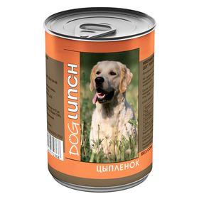 """Консервы """"Дог ланч"""" для собак, цыпленок в желе, 410 г."""