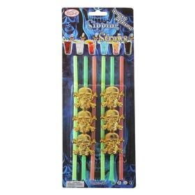 Трубочки для коктейля «Череп», на блистере