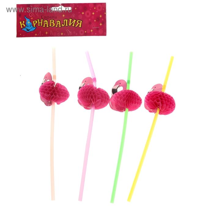 """Трубочка для коктейля """"Фламинго"""" (набор 12 шт)"""
