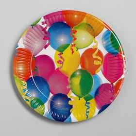 """Plate paper """"balloons"""" (set 6 PCs) 18 cm"""