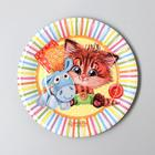 "Paper plate ""Kitten with a donkey"", 18 cm"