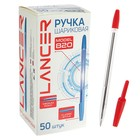 Ballpoint pen Office Style 820, node, 1.0 mm, red ink, transparent body