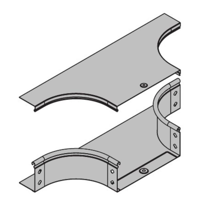 """Крышка """"ДКС"""" 38046, на ответвитель Т-образный, DPT, горизонтальный, основание 400 мм"""