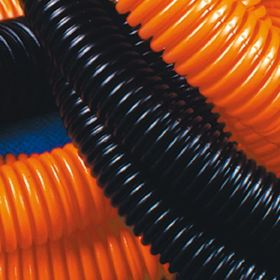 """Труба ПНД """"ДКС"""" 71916, гофро, c протяжкой, d=16, оранжевая, 100 м"""