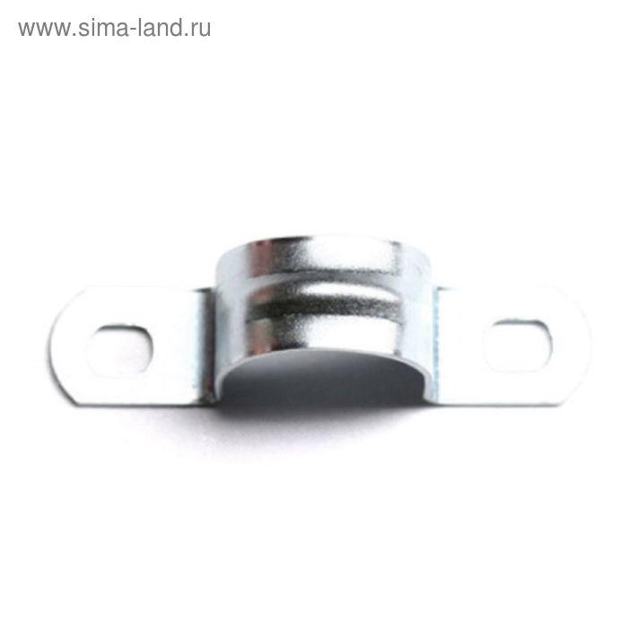 "Скоба ""ДКС"" 53356 металлическая, оцинкованная, двухлапчатая, d=22мм"