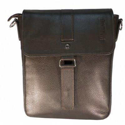 Сумка мужская, отдел на клапане, наружный карман, плечевой ремень, цвет коричневый