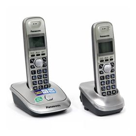 Радиотелефон Dect Panasonic KX-TG2512RUN платиновый, АОН