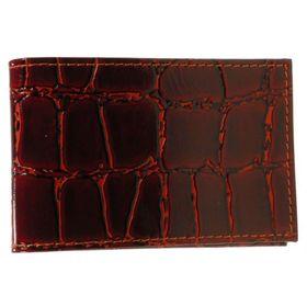 Визитница, 11,1 х 1 х 7 см, лист на 1 визитку, 20 визиток, цвет красный