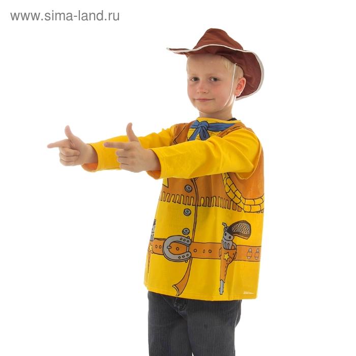 """Карнавальный костюм """"Ковбой"""" 2 предмета: жилетка, шляпа, 7-9 лет, рост 120-140 см"""