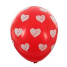 """Шары латексные 12"""" """"Сердца"""", пастель, 5-сторонний, набор 14 шт., цвет красный"""