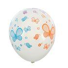 """Шары латексные 12"""" «Цветные бабочки», прозрачные, пастель, 5-сторонний, набор 14 шт. - фото 308470275"""