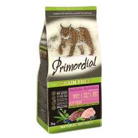 Сухой корм PRIMORDIAL для котят, беззерновой, утка/индейка, 2 кг