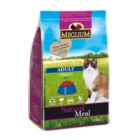 Сухой корм MEGLIUM ADULT для кошек, говядина 1,5 кг