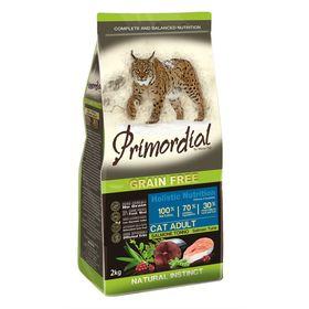 Сухой корм PRIMORDIAL для кошек, беззерновой, лосось/тунец, 2 кг