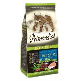 Сухой корм PRIMORDIAL для кошек, беззерновой, лосось/тунец, 400 г