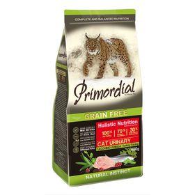 Сухой корм PRIMORDIAL для кошек с МКБ, беззерновой, индейка/сельдь, 400 г