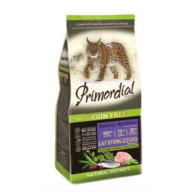 Сухой корм PRIMORDIAL для стерилизованных кошек, беззерновой, индейка/сельдь, 400 г