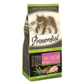 Сухой корм PRIMORDIAL для котят, беззерновой, утка/индейка, 400 г