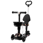 """Scooter-a wheelchair 5 in 1 TC11 """"Butterflies"""", three PU wheel with d=115 mm and 90"""