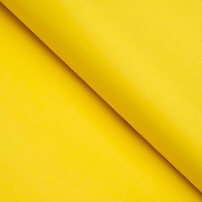 Бумага цветная Тишью (шёлковая) 510*760 мм Sadipal 1 л 17 г/м2 жёлтый 11136