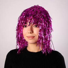 "Carnival wig ""Rain"", 30 cm MIX colors"