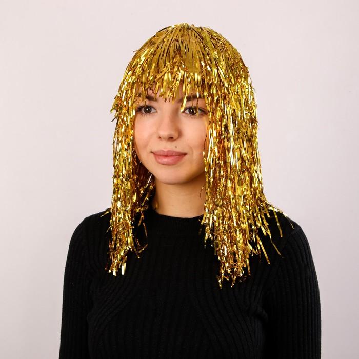 """Карнавальный парик """"Дождь"""", 45 см цвета МИКС"""