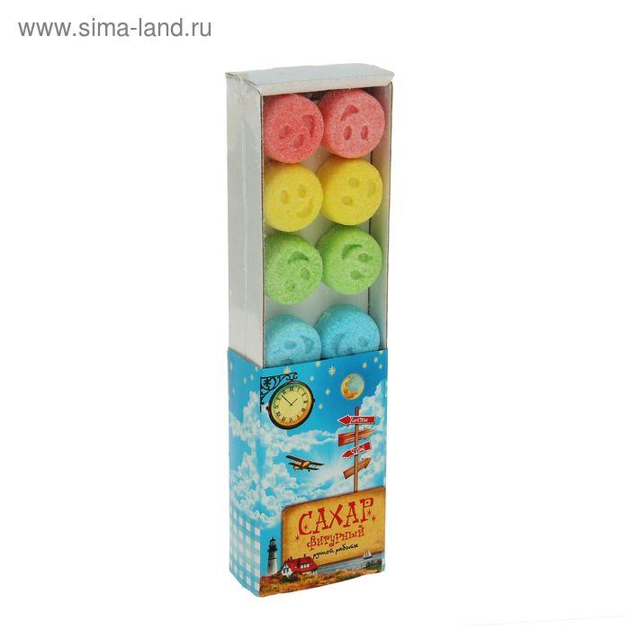 Сахарные смайлики (цветной, пенал) 140г.